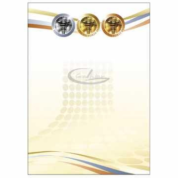 Diplomų popierius A4 170gr. 25 lapai (Puchary)