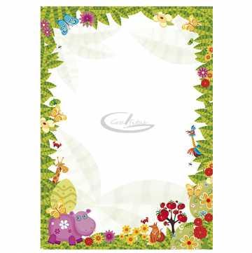 Diplomų popierius A4 170gr. 25 lapai (Džungla)